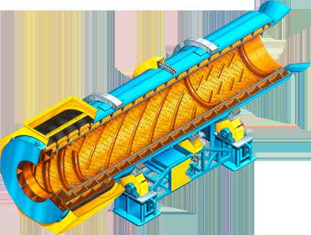 didion rotary sand casting separators